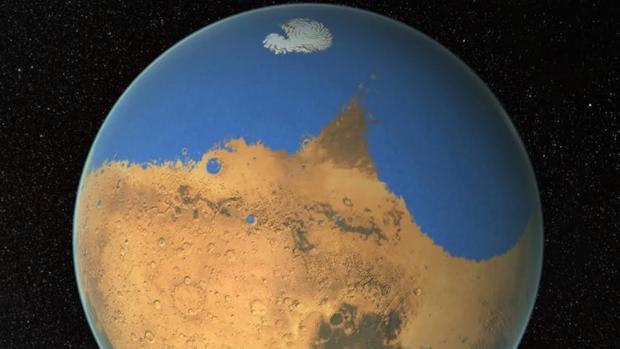 Hallan un agujero en Marte que permite que el agua escape -