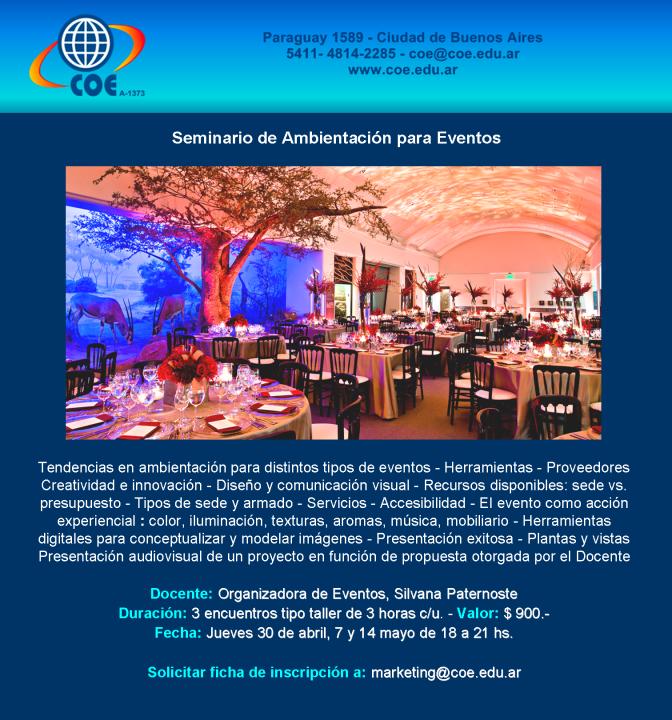 Seminario de Ambientación para Eventos