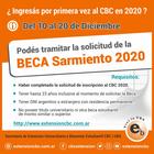 """Becas de Ayuda económica """"Sarmiento"""" para estudiantes del Ciclo Básico Común La #Beca de Ayuda Económica Sarmiento"""